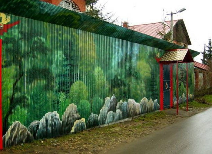 Картинки на забор своими руками