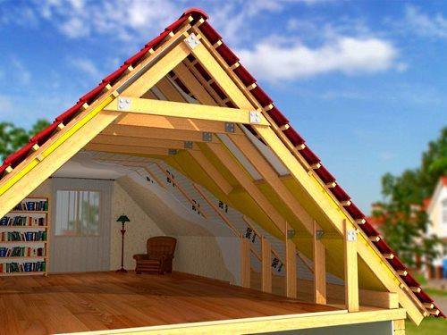 Каркас двухскатной крыши своими руками фото
