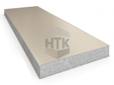 Стеновая сэндвич панель АлюТерм С ПП 60-200 мм (микроволна)